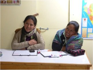 Aby, left, and Roxana at a training session