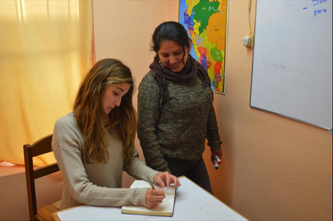 Aby, a Spanish Teacher applying her training