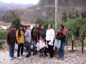 Spanish teachers in front of the local Inca ruins