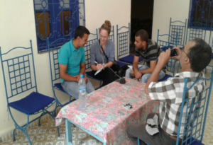Journalist meets with HAF team