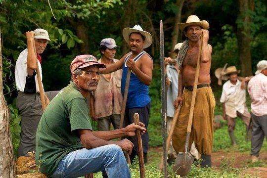 Farmers taking a break