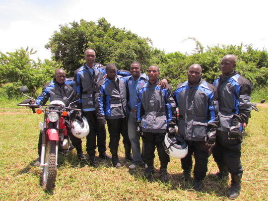 Group trained by Riders for Health in Nyimba
