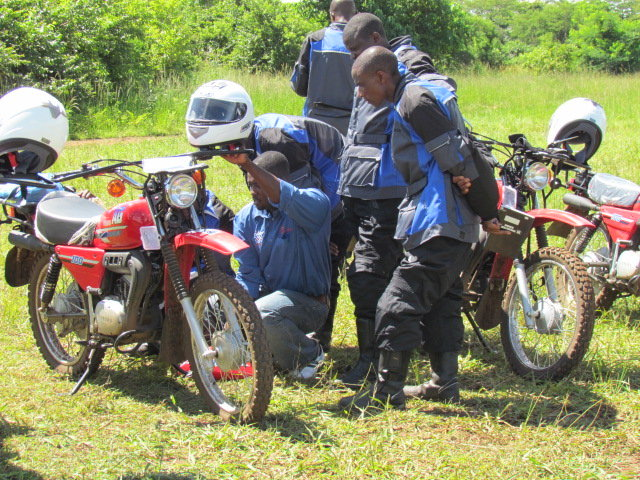Health workers trained by Riders in maintenance