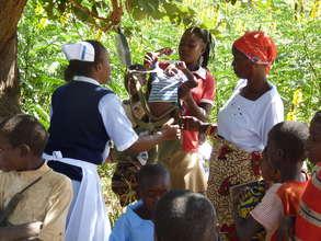 Immunization clinic and health check in Zambia