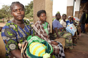Patience and her baby, Patricia, in Zambia
