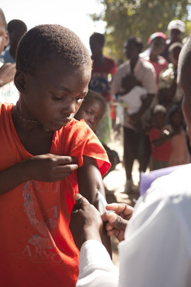 Provide immunizations for 300 infants in Zambia