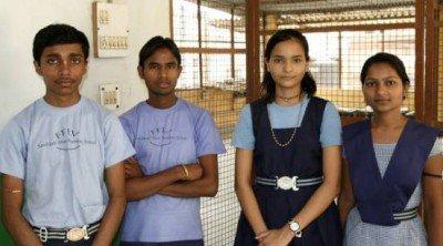 10th Grade toppers Mithlesh and Rajkumari(right)