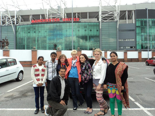 Pushpa(extreme left), with Discovery Academy Kids