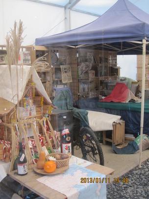 Mountain School Office in Shop Tent