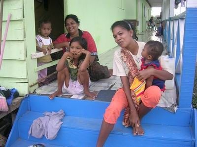 Mothers in Bakoy refugee barrack