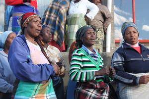 PIH Maternal Health Workers Greet Visitors