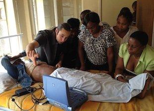 Dr. Daniel Mantuani trains nurses at Mamohau Hosp.
