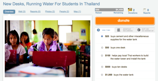 Provide Running Water for Students in Thailand