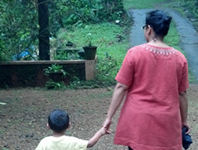 Devi Thomas and her son