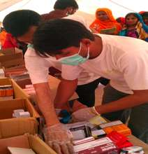 The SHINE Humanity team provides free medication