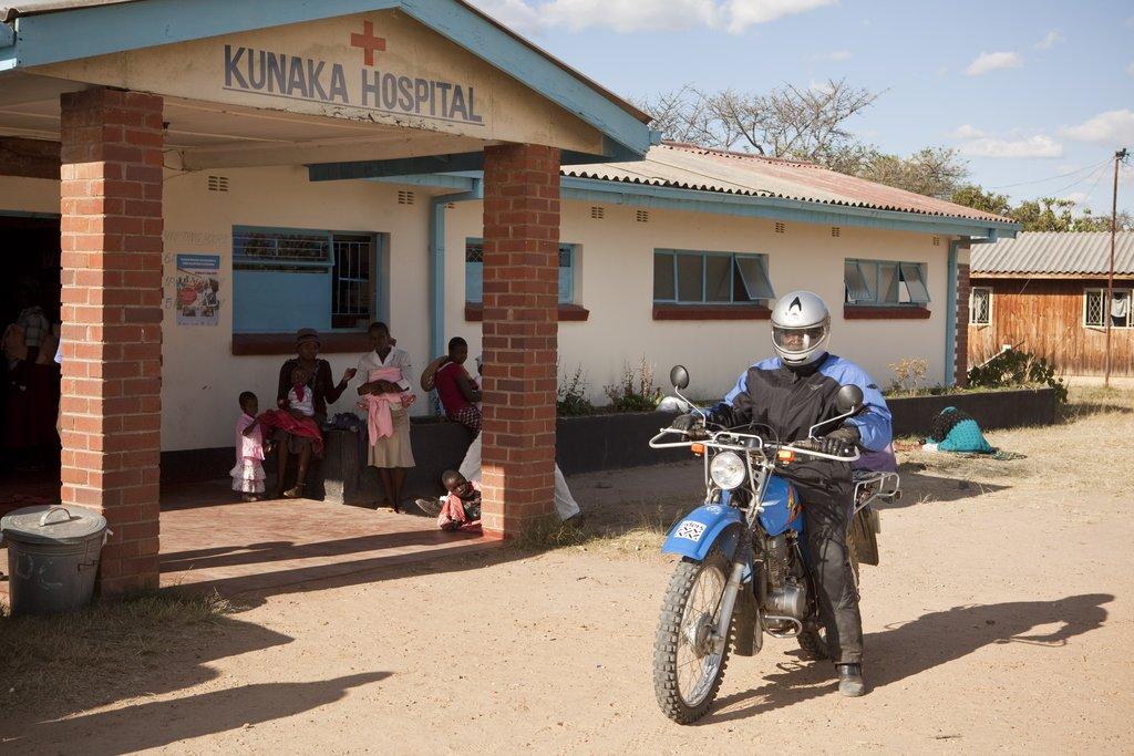 Health worker mobilized by Riders, Kunaka Hospital