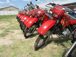 Riders for Health motorcycles in Zimbabwe