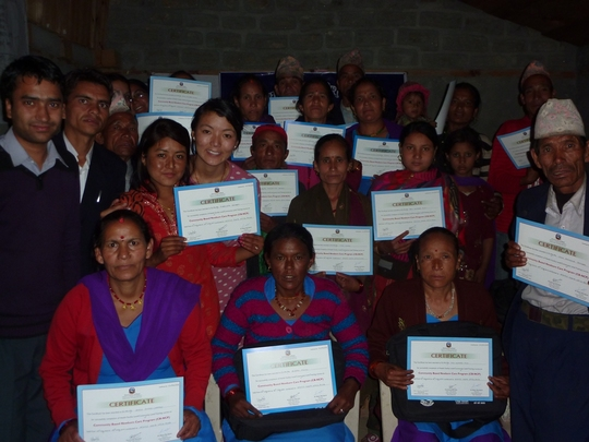 Certified Trainees-Dolpa, Nepal