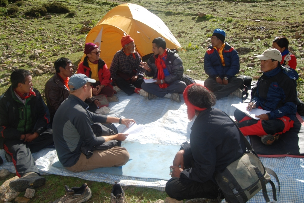 OHW Nepal meeting with local people in Saldang