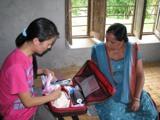 Medical kit for midwife