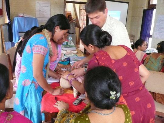 Training community volunteers