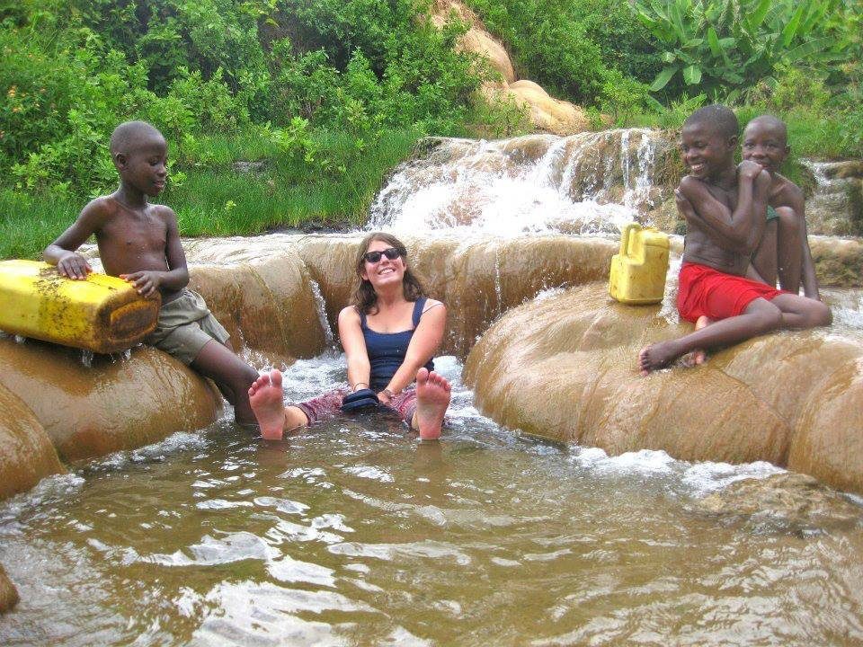 International Participant with Kids in water