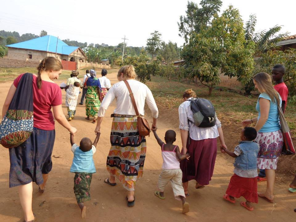 International Participants with Kids in Village