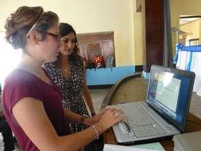Hard at work. (blogging!)