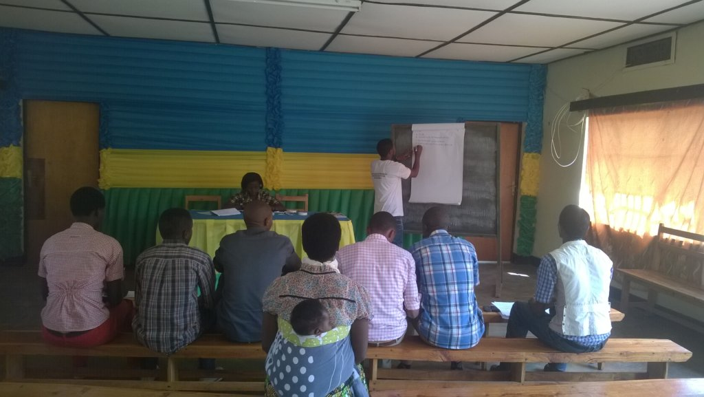 Local youth leaders during teaching sessions