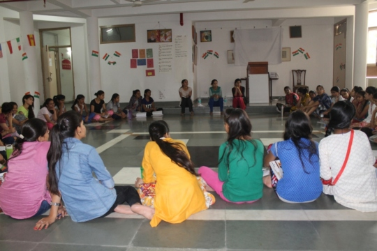 DISCUSSION DURING RESIDENTIAL CAMP