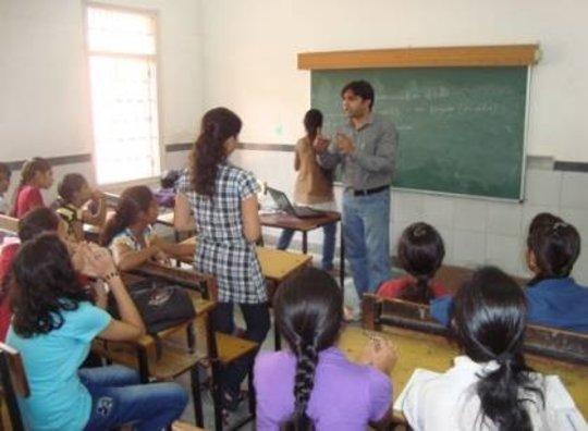 Small group workshop at Delhi