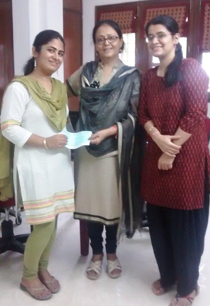 Jyoti Bhatia- our Shalini fellow turned donor