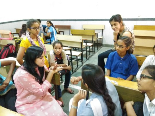 Mentor Didi in interaction with her mentees on 7th