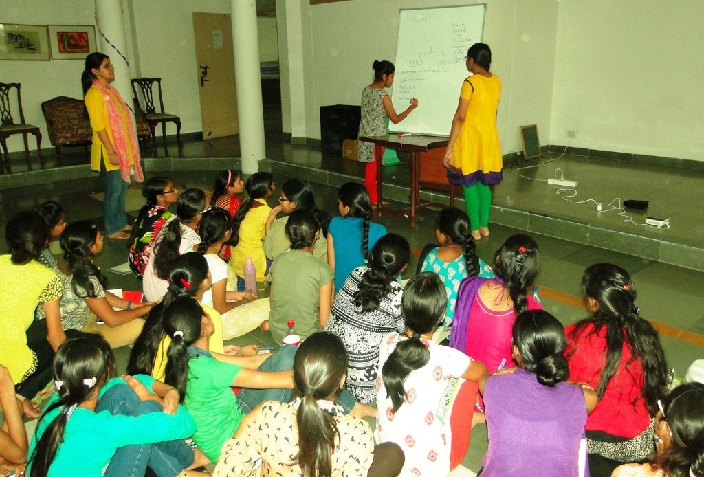 Group Activity during the residential camp
