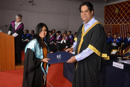 Our Shalini Fellow-receiving her MBA Degree