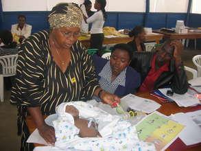 HBB training class in Uganda