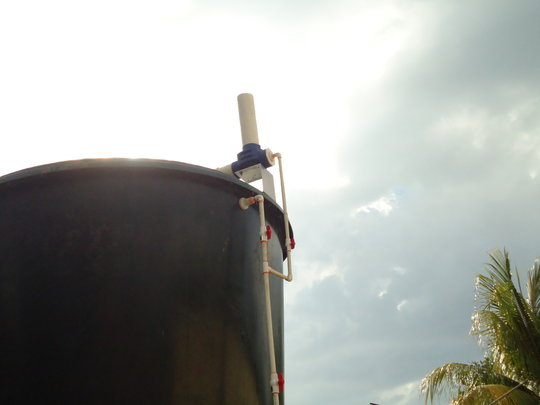 2,000 gallon tank and chlorinator-- Haiti.