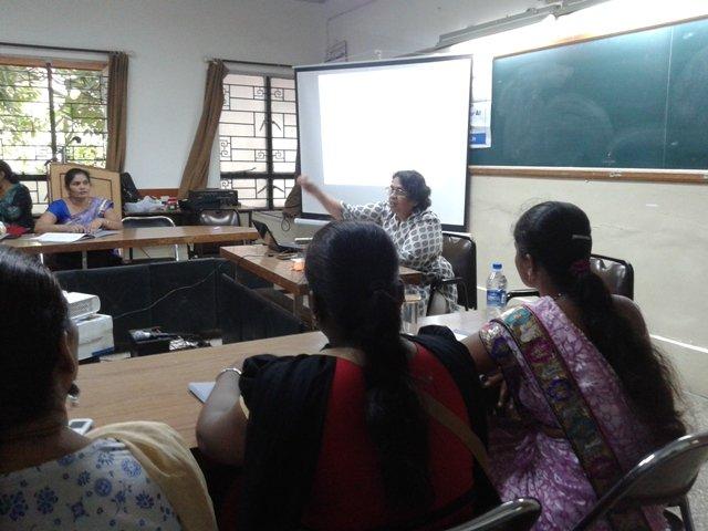 Reena attending EDP session