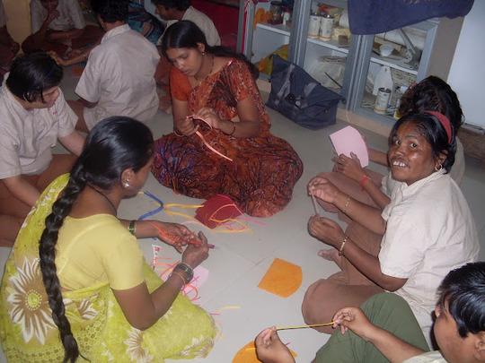 Girls sharing skills