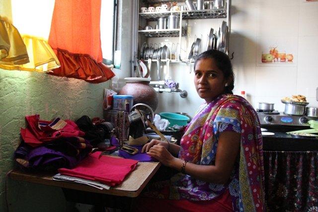Priyanka at her home cum work place