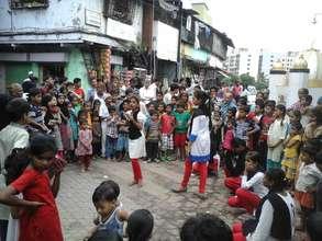Performing a Play on Sanitation