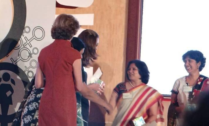 Vacha receives Dasra Award, pic. courtesy Dasra