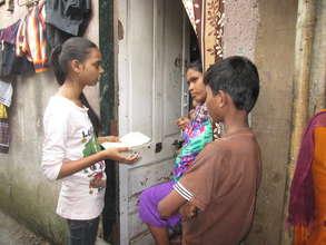 Door to door contact to highlight girls' rights