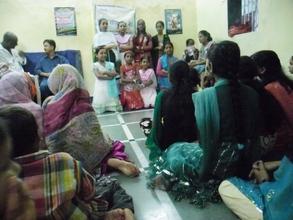 Girls Making Presentation