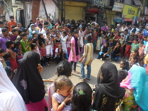 Performing street theatre on rights of girls