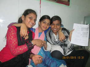 Girls with their Newsletters on Republic Day