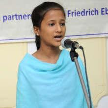 Sabah presenting at a seminar