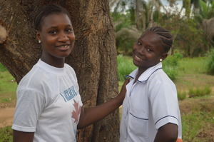 Isha, pictured on left with her friend