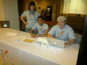 Alexander Estevez from AAV with AYUDA volunteers!