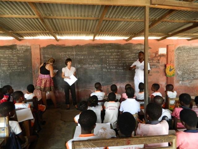 Child labour talks in schools by volunteers
